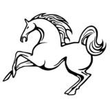 Quadrifoglio e coccinella immagini e vettoriali royalty for Immagini cavalli stilizzati