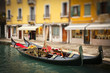 Traditional gondoles in Venice