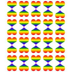 corazones del orgullo gay