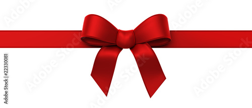 Red silk ribbon panorama - 22330081
