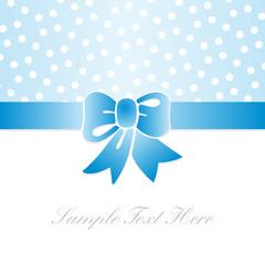tarjeta de regalo azul con lunares