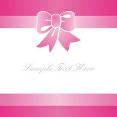 tarjeta de regalo rosa