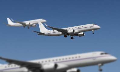 viele Flugzeuge