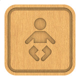Wooden Nursery Sign poster