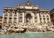 Leinwanddruck Bild - Fontana di Trevi, Rome, Italy
