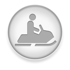 "White Button / Icon ""Snowmobile"""
