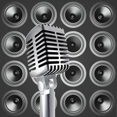 Mikrofon mit Lautsprecher