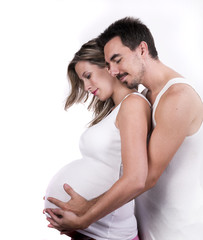 pregnant mother and husband together