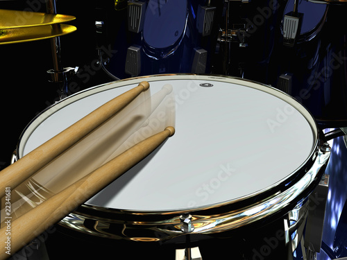 Leinwanddruck Bild drumming