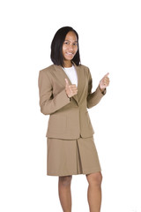 Businesswoman Giving the Thumbs Up