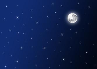 night sky,moon