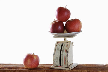 Äpfel wiegen