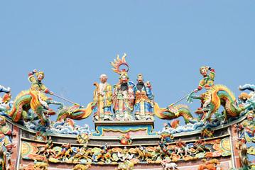 oriental temple  roof.
