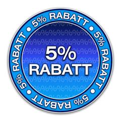 Aufkleber - 5% Rabatt (1-01)
