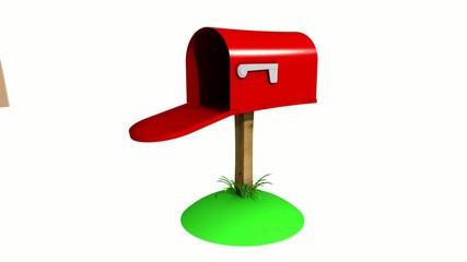 3d mailbox animation