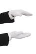 Hände halten - Serie weiße Handschuhe