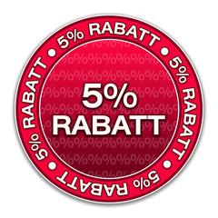 Aufkleber - 5% Rabatt (3-01)