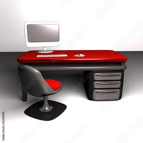 bureau 3d de sven photo libre de droits 22348888 sur. Black Bedroom Furniture Sets. Home Design Ideas