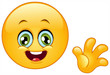 Waving hello emoticon
