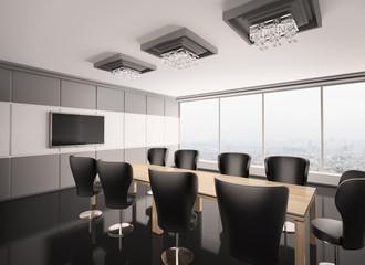 Konferenzzimmer mit lcd tv 3d