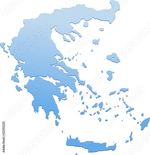 Carte de la Grèce (détouré)