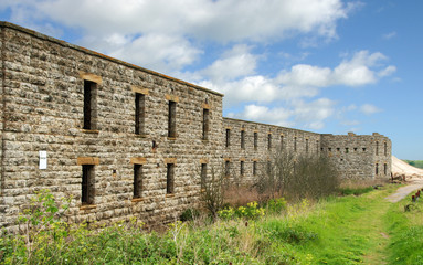 Cliffe Fort, Kent (UK). Built in the 1860s to defend The Thames