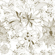 roleta: Floral seamless wallpaper
