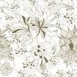 roleta: Floral seamless wallpaper