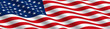 American Flag Flowing in the Wind - 22358642
