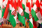 Hungarian flags poster