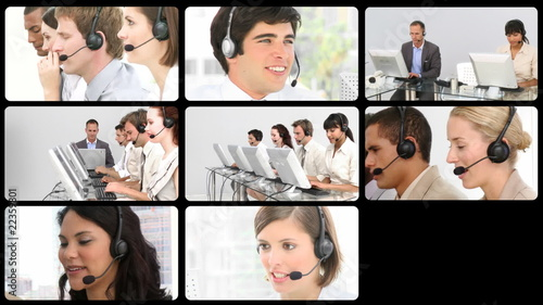 HD video footage of a business call centre