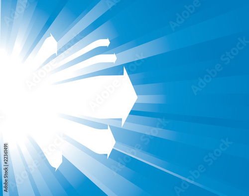 Sunburst vector background with arrows