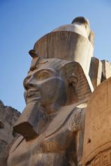 Statue Of A Pharaoh At Karnak Temple