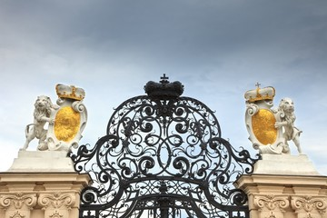 Gate in Belvedere palace, Vienna
