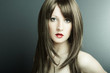 The young sexual girl in chestnut-coloured wig