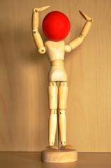 Manequin tete rouge