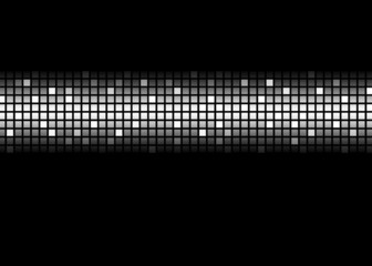 Black and White Abstract Dot Matrix Pattern