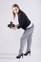young girl photographer