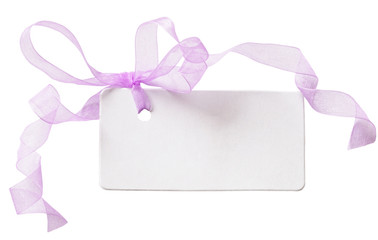 note with transparent ribbon
