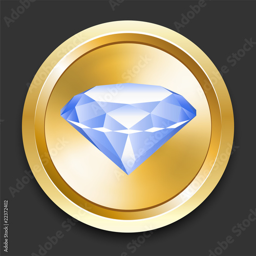 Diamond on Golden Internet Button