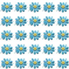 pattern fiori azzurri