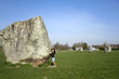 female tourist avebury ring wiltshire