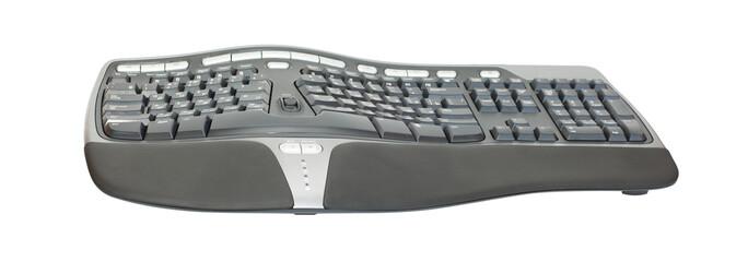 Ergonomic keyboard isolated on white