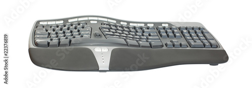 Ergonomic keyboard isolated on white