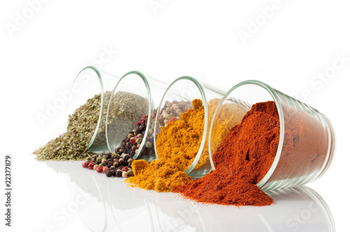 mix of spice out of the bowl
