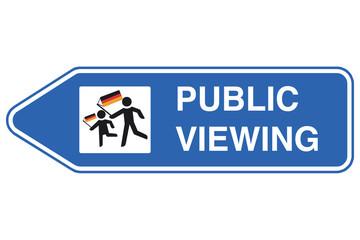 Public Viewing Wegweiser links