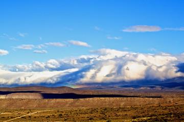 Mountain under clouds