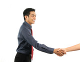 asian business man shaking hand