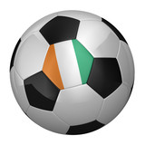 Ivory Coast Soccer Ball isolated over white background poster
