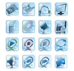 Blue flabby web icon set 02